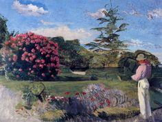 Le Petit Jardinier, huile sur toile de Jean Frederic Bazille (1841-1870, France)