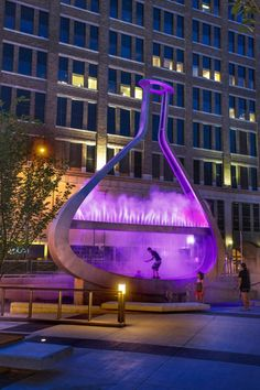 "Artist Bill Pechet has collaborated with lighting co-designer Chris Pekar of Lightworks and Lumenpulse to create the ""Emptyful"" sculpture in the Millennium Library Plaza in Winnipeg, Canada. Details Magazine, Design Magazine, Sweet Home, Deco Design, Sculpture, Home And Deco, Lighting Manufacturers, Land Art, Canada Travel"