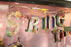 Spring Hallway Window display at #AmericasMart Atlanta Showroom of #mwcbk