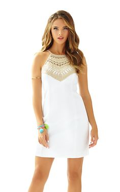 Pearl Shift Dress - Lilly Pulitzer. Reminds me of a Greek goddess.