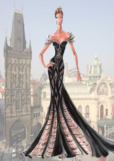 Blanka Matragi--Czech designer--backdrop is the Powder Tower