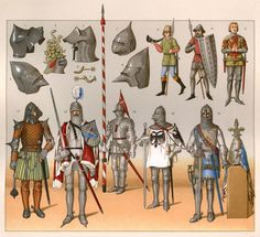 An poster sized print, approx (other products available) - Armour, helmets and weapons Date: 1350 to 1460 - Image supplied by Mary Evans Prints Online - Poster printed in the USA Fine Art Prints, Framed Prints, Canvas Prints, Military Dresses, Knight Armor, Medieval Armor, Knights Templar, Panzer, Poster Size Prints