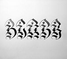 BLACK #tusk #calligraphy
