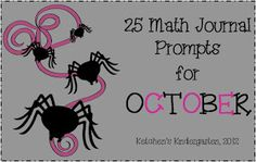 Ketchen's Kindergarten: October Math Journal Prompts Freebie