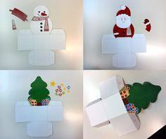 Gyerekjáték az ajándékcsomagolás: karácsonyi díszdobozok, sablonnal | Életszépítők