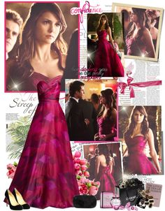 """""""Elena Gilbert- Prom style"""" by mery90 ❤ liked on Polyvore"""