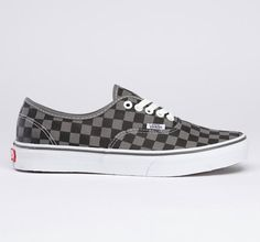 154d3c485aa Vans - Checkerboard Authentic - Pewter Black