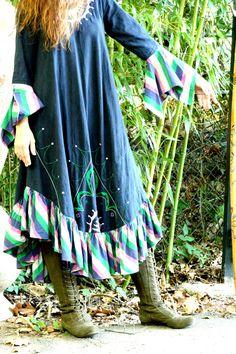 Josefa DISENO 1970s Vintage Hippie Dress by GreenCornDance on Etsy, $166.00