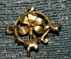 Very Fine Gold Filled  Victorian Watch Pin by FabricGuysTreasures, $35.00