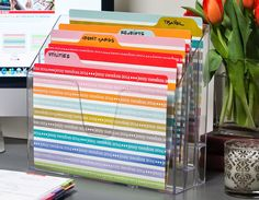 Need Energy?  Organize Your Desk! image file folders