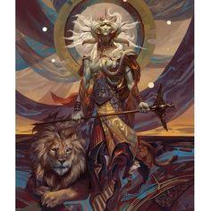 Samyaza Angel of Pride #art #fantasy #painting #angel #print #illustration #conceptart #halo #lion #digitalart by bugmeyer