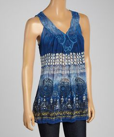 Another great find on #zulily! Navy Bohemian Tank by Sienna Rose #zulilyfinds