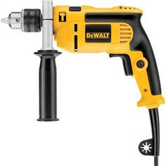 Model 7 Amp in. Dewalt 7 Amp Single Speed in. Compact in. No-Load Speed (RPM) 7 amp motor provides high performance drilling and overload protection. Variable Speed Trigger Yes. Cordless Drill Reviews, Cordless Hammer Drill, Anchor Systems, Speed Drills, Drill Driver, Buyers Guide, Tool Design, Power Tools, Yellow