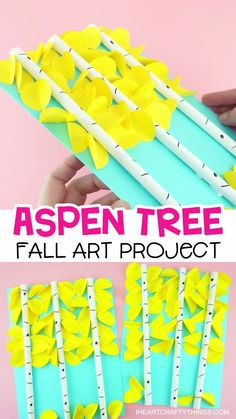 Here's a fun and simple idea for making a beautiful paper aspen tree art project for a fall art project. This aspen art project is sure to look gorgeous on display as a fall kids craft. Visit our website to see the full how-to tutorial and to see more fun Fall Arts And Crafts, Fall Crafts For Kids, Arts And Crafts Movement, Crafts For Teens, Art For Kids, Autumn Art Ideas For Kids, Kid Art, Fall Art Projects, Arts And Crafts Projects