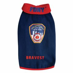 Royal Animals Official FDNY Patch Blue Sweatshirt with Red Trim Royal Animals, Fire Badge, New City, Pet Clothes, Pet Care, Drink Sleeves, Your Pet, Pets, Sweatshirts