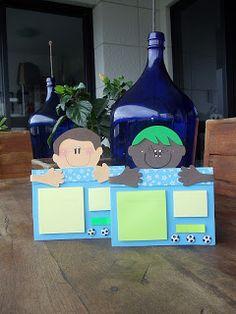 toys - Reciclagem divertida e artesanato: Porta Post it - Meninos