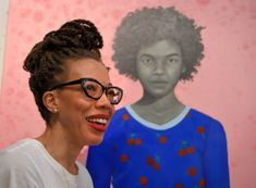 Equipped with new heart, Baltimore's Amy Sherald gains fame with surreal portraiture Obama Portrait, Michelle E Barack Obama, Amy Sherald, Alma Thomas, Kehinde Wiley, National Portrait Gallery, Black Artists, American Artists, Art