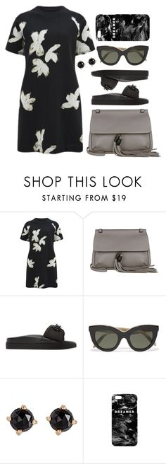 """""""Shirtdress"""" by cherieaustin ❤ liked on Polyvore featuring Marc by Marc Jacobs, Gucci, Simone Rocha, Victoria Beckham, Irene Neuwirth and Mr. Gugu & Miss Go"""