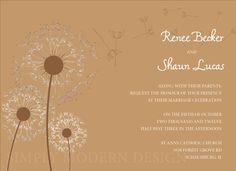 Rustic Dandelion Wedding Invitation AND by xSimplyModernDesignx, $22.50