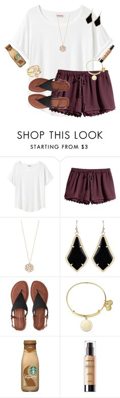 """Happy Thursday☀️"" by emmagracejoness ❤ liked on Polyvore featuring Organic by John Patrick, H&M, Ginette NY, Kendra Scott, Aéropostale, Alex and Ani and LORAC"