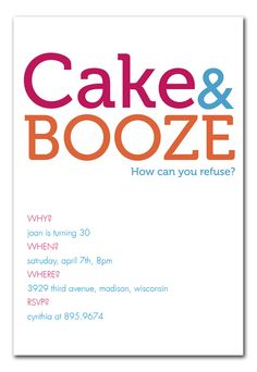 Cake And Booze Birthday Pins25th