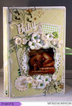 Baby Buchkarte in grün-weiß auf meinem Blog: http://nataschas-blog.blogspot.de/2015/06/baby-buchkarte-in-grun-wei.html