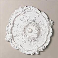 Ornate Round Ceiling Medallion - Shades of Light Ceiling Rose, Ceiling Tiles, Ceiling Fan, Ceiling Lights, Plaster Ceiling Design, Ceiling Decor, Farmhouse Ceiling Medallions, Cord Cover, Bedroom Ceiling