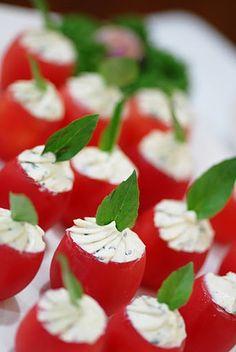 cream cheese stuffed tomato
