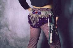 Lilac My Little Warpony Pants / Boho Pants / www.morethanmammalinc.etsy.com #royalpeasantry #shopping #fashion #warpony #warponypants #adorned #pants #traveler #postapocalypticfashion #steampunk
