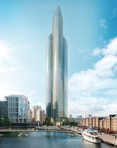 spire london by HOK set to be the tallest residential skyscraper in western europe