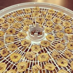 I've been making these banana fruit snacks (aka banana chips) a lot recently for my son and husband to eat for snacks. They both love them so much that they seem to fly out of the pantry faster than I can make them! Dehydrated Banana Chips, Dehydrated Food, Cute Snacks, Fruit Snacks, Dehydrator Recipes, Fruit Dehydrator, Banana Fruit, Appetizer Recipes, Appetizers
