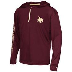 Colosseum Athletics™ Boys' Texas State University Sleet 1/4 Zip Hoodie Windshirt