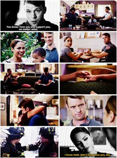 Casey: You know I love you and support you, no matter what. Dawson: I know Matt, that's why I love you, too. (5x01)