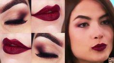 Maquiagem com sombra berinjela da Maria Casadevall passo a passo