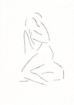 Tantra Art, Sketching Tips, Minimalist Drawing, Deep Art, Silhouette Art, Couple Drawings, Bedroom Art, Love Art, Line Drawing