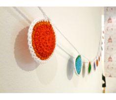 Guirnalda crochet Papel Picado