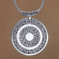Sterling silver pendant necklace, 'Timeless Treasure' from @NOVICA, They help #artisans succeed worldwide.