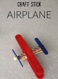 How to make a craft stick airplane with clothespins. Easy Airplane Craft Kits for Father's Day, summer camp crafts, easy kids craft, or charity craft kits! Popsicle Stick Crafts For Kids, Fathers Day Crafts, Crafts For Kids To Make, Craft Stick Crafts, Preschool Crafts, Craft Stick Projects, Craft Sticks, Craft Kits For Kids, Diy Projects For Kids