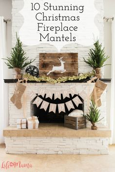 """One of the places where you can create a gorgeous focal point in your home is your fireplace mantel. You can go with a more general """"winter"""" display, or really get into the holiday spirit with full-on Christmas decor. Take a look at these amazing fireplace mantels to get some ideas on how you'd like to spread Christmas cheer in your home."""