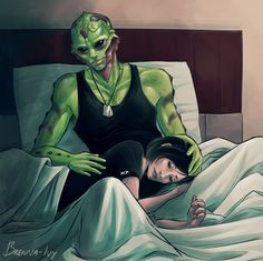 Commission for BlueShepard Blue Shepard and Thane Krios (Mass Effect) ————————— Want to commission me? Go here