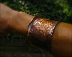 Hammered Copper Cuff Heavy Metal by DeborahLeeTaylor on Etsy, $74.00