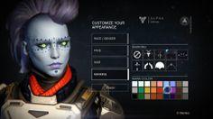 Character customisation for the female awoken race in Destiny.