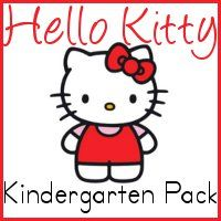 Hello Kitty theme early childhood [free] printable learning packs. There are packs for toddlers, preschoolers and kindergarten. [by royal baloo]