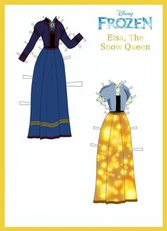 Disney's Frozen Paper Dolls: Elsa's Outfits Page 2 by evelynmckay