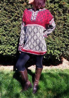 """Dale of Norway Hand-knit """"Jubileum"""" Sweater"""