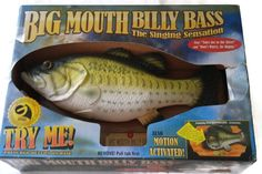 Big Mouth BIlly Bass Singing Fish Take Me To The River Don't Worry Be Happy 1998 #Gemmy