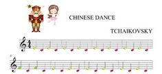 Nutcracker-chinese dance-tchaikovsky-BOOMWHACKERS AND PIANO SCORE,WITH MUSX AND WAV SOUND ACOMPANIEMENT.