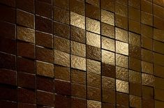 Shimmery Copper Colored Tiles from Lascaux
