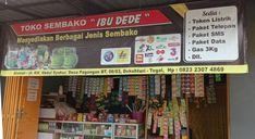 Banner toko sembako dan pulsa – SerbaBisnis Dan, Banner, Baseball Cards, Banner Stands, Banners