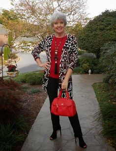 Proof: over 40/50 does not have to mean boring or frumpy...fabulous outfit!